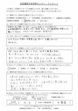 H・A様(千葉県)配偶者と別居