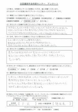 F・K様(静岡県)配偶者と別居